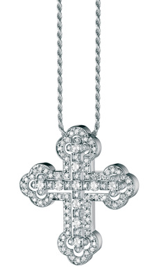 Damiani - Belle Epoque Orthodox Cross White Gold
