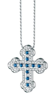 Damiani - Belle Epoque Orthodox Cross Sapphires