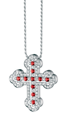 Damiani - Belle Epoque Orthodox Cross Rubies
