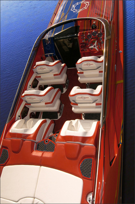 Sport boat 47 Lightning. Fountain Powerboats
